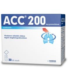 ACC 200 GRANULATUM 30X3G Sandoz Köptetők és köhögéscsillapítók 1,899.05 Dió patika online gyógyszertár internetes gyógyszerre...