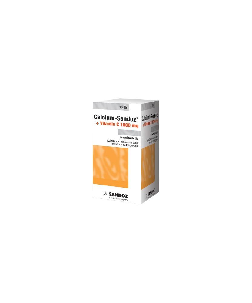 CALCIUM-SANDOZ+VITAMIN C 1000MG PEZSGOTABL. 10X Sandoz Vitaminok és Nyomelemek  899Ft Dió patika online gyógyszertár interne...