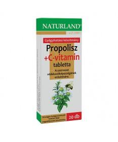 NATURLAND PROPOLISZ C VITAMIN TABLETTA  20X Naturland Allergia és nátha 1,167.55 Dió patika online gyógyszertár internetes gy...