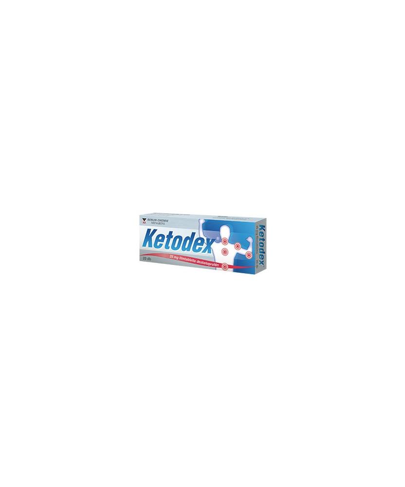 KETODEX 25 MG FILMTABL. 20X  Tabletták 1,959.00 Dió patika online gyógyszertár internetes gyógyszerrendelés Budakeszi