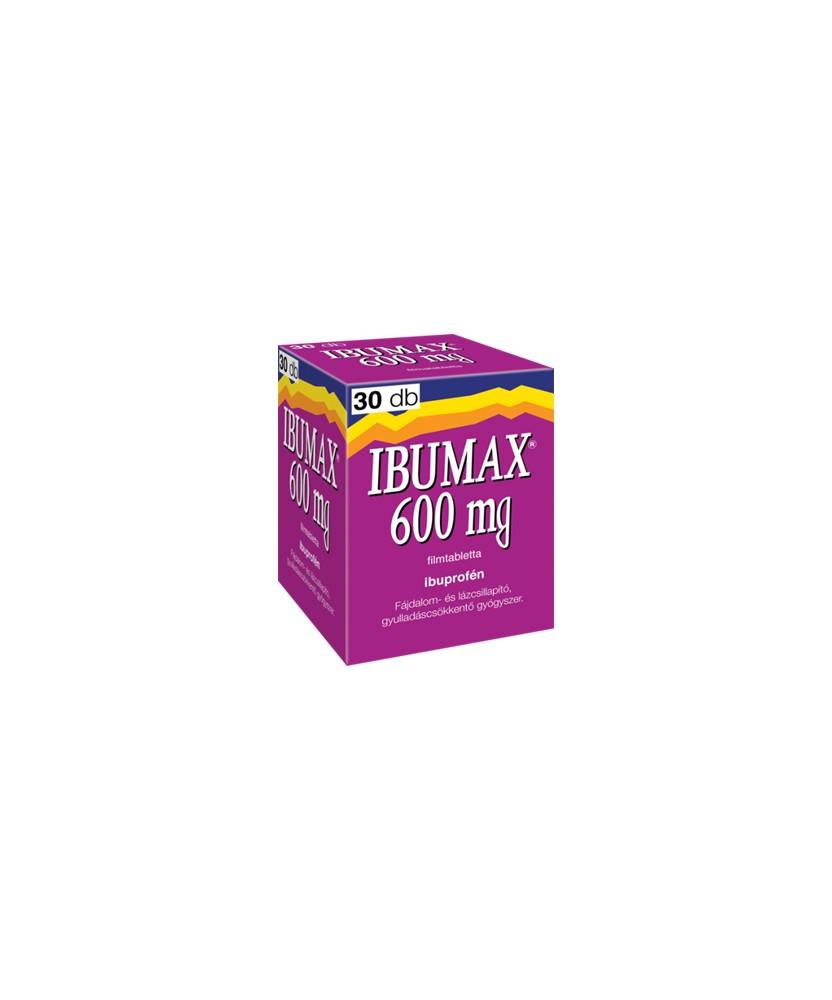 IBUMAX 600MG FILMTABL.  30X  Tabletták 1,439.00 Dió patika online gyógyszertár internetes gyógyszerrendelés Budakeszi