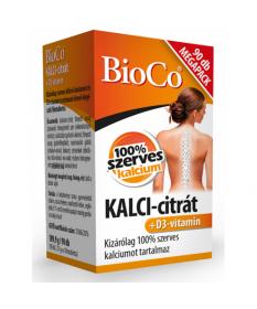 BIOCO KALCI-CITRAT+D3-VIT.FILMTABL. 90X BioCo Porc- és Csonterősítő 2,339.01 Dió patika online gyógyszertár internetes gyógys...