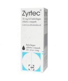 ZYRTEC 10 MG/ML BELS.OLD.CSEPPEK 20 ML  Tabletták allergiára 1,471.55 Dió patika online gyógyszertár internetes gyógyszerrend...