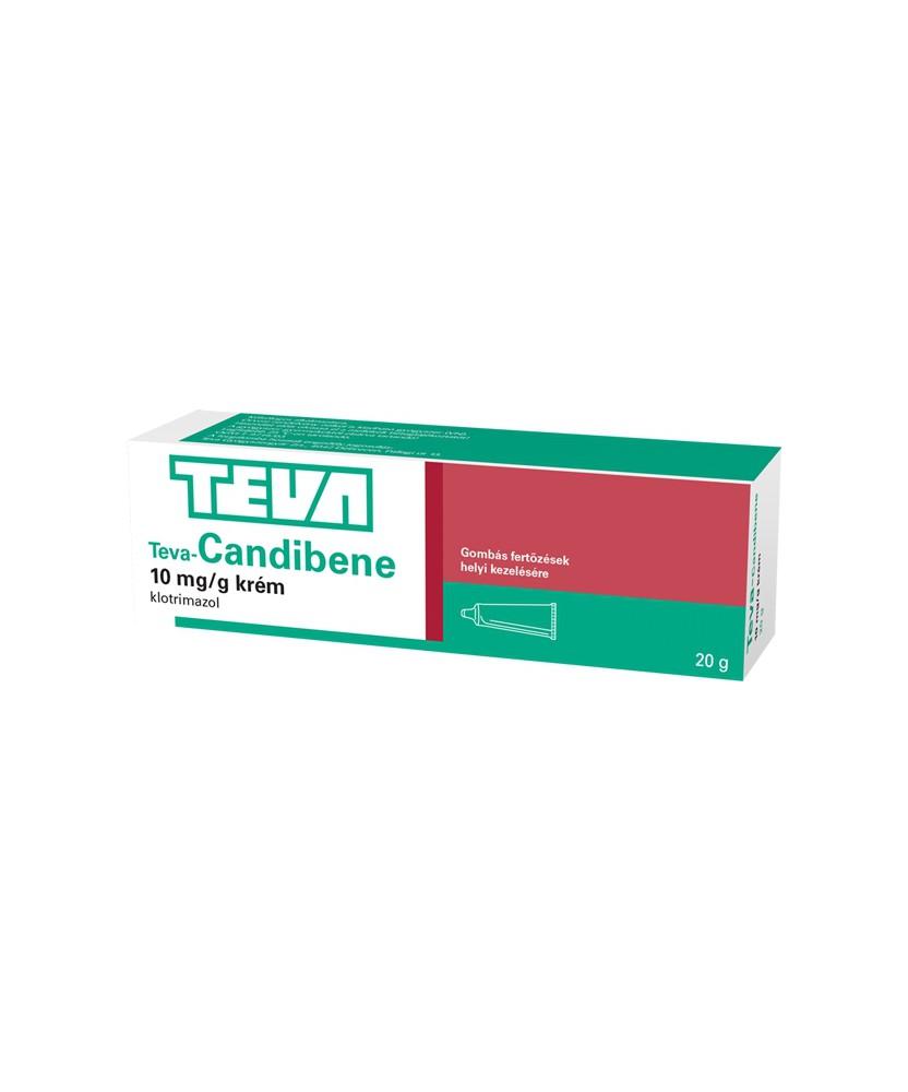 TEVA-CANDIBENE 10MG/G KREM 20G Teva Gyógyszergyár Zrt. Körömgomba és bőrgomba elleni készítmények 1,101.05 Dió patika online ...