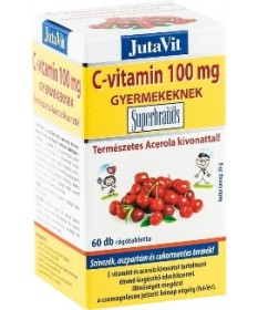 JUTAVIT (JUVITA) ACEROLA C RAGOTABL.GYERMEK 60X JutaVit Vitaminok és Nyomelemek  1,490.55 Dió patika online gyógyszertár inte...