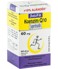 JUTAVIT (JUVITA) KOENZIM Q10 60MG TABLETTA 60+6X JutaVit Vitaminok és Nyomelemek  2,773.06 Dió patika online gyógyszertár int...
