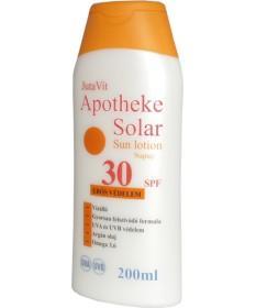 JUTAVIT APOTHEKE SOLAR NAPTEJ SPF30 200ML JutaVit Kozmetikumok 1,927.55 Dió patika online gyógyszertár internetes gyógyszerre...