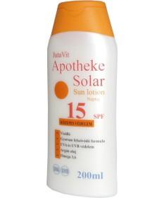 JUTAVIT APOTHEKE SOLAR NAPTEJ SPF15 200ML JutaVit Kozmetikumok 1,956.05 Dió patika online gyógyszertár internetes gyógyszerre...
