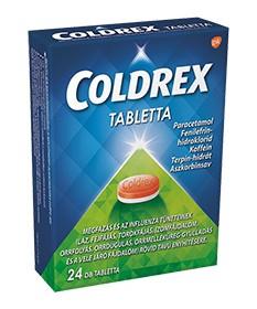 COLDREX TABLETTA 24X GlaxoSmithKline Tabletták náthára 1,975.05 Dió patika online gyógyszertár internetes gyógyszerrendelés B...