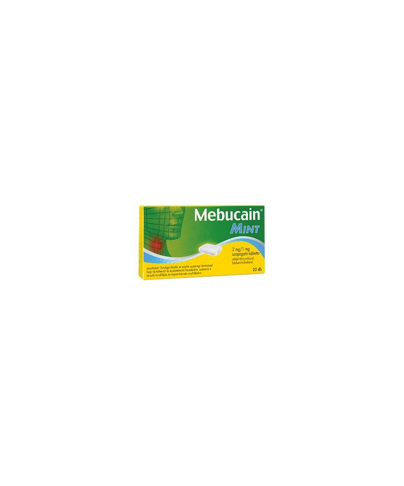 MEBUCAIN MINT 2MG/1MG SZOPOGATO TABLETTA 20X GlaxoSmithKline Tabletták náthára 1,369.00 Dió patika online gyógyszertár intern...