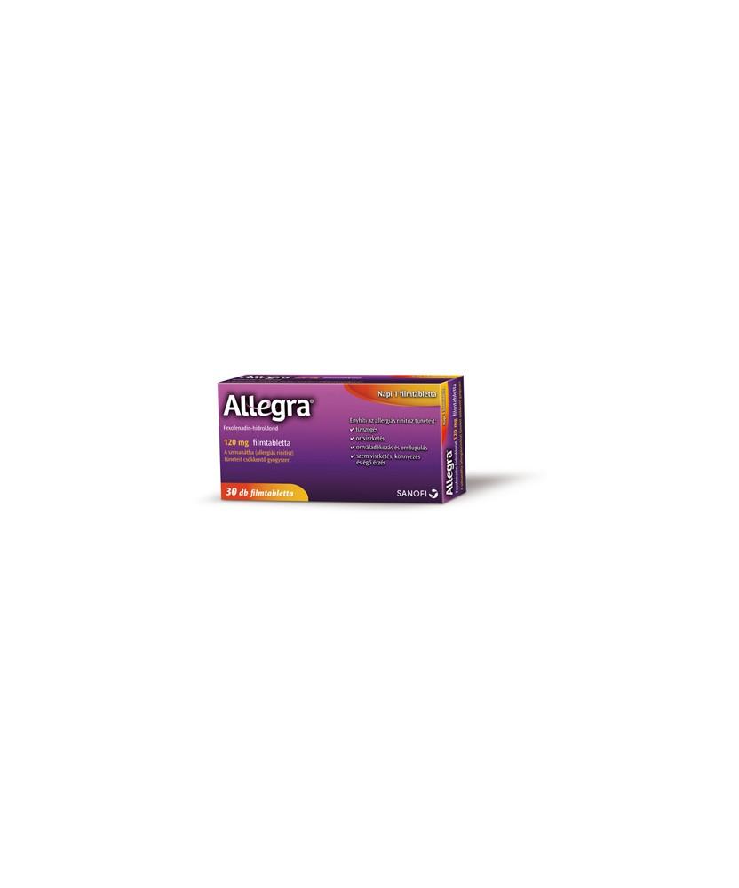 ALLEGRA 120 MG FILMTABL. 30X Sanofi Tabletták allergiára 2,239.00 Dió patika online gyógyszertár internetes gyógyszerrendelés...
