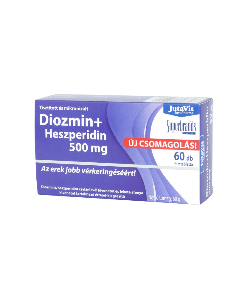 JUTAVIT DIOZMIN+HHESZPERIDIN 500MG TABL. 60X JutaVit Szív és Érrendszer 2,811.05 Dió patika online gyógyszertár internetes gy...