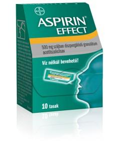ASPIRIN EFFECT 500MG SZAJB.DISZP.GRAN. 10X Bayer Fájdalom és Láz 1,110.55 Dió patika online gyógyszertár internetes gyógyszer...