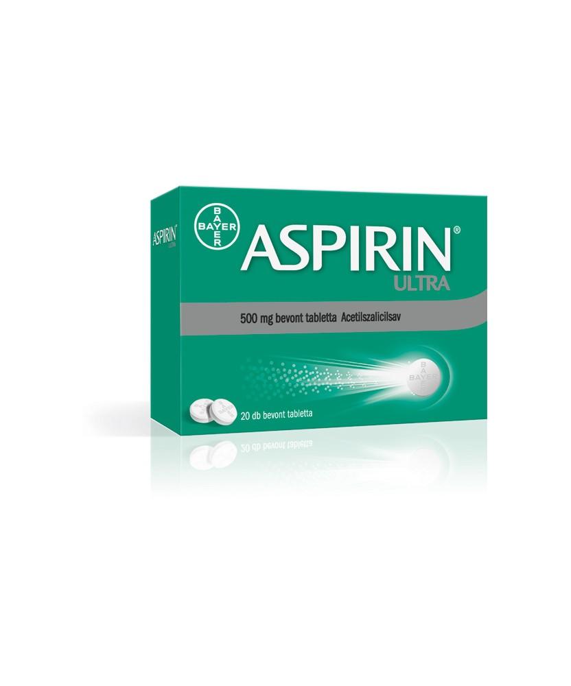 ASPIRIN ULTRA 500MG BEVONT TABL. 20X Bayer Fájdalom és Láz 1,399.00 Dió patika online gyógyszertár internetes gyógyszerrendel...