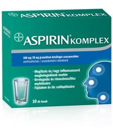 ASPIRIN COMPLEX 500MG/30MG GRAN.BELS.SZUSZP. 10X Bayer Forró italok 1,842.05 Dió patika online gyógyszertár internetes gyógys...