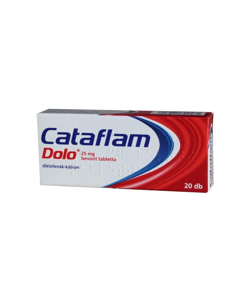 CATAFLAM DOLO 25MG BEVONT TABL. 20X GlaxoSmithKline Tabletták 1,909.00 Dió patika online gyógyszertár internetes gyógyszerren...