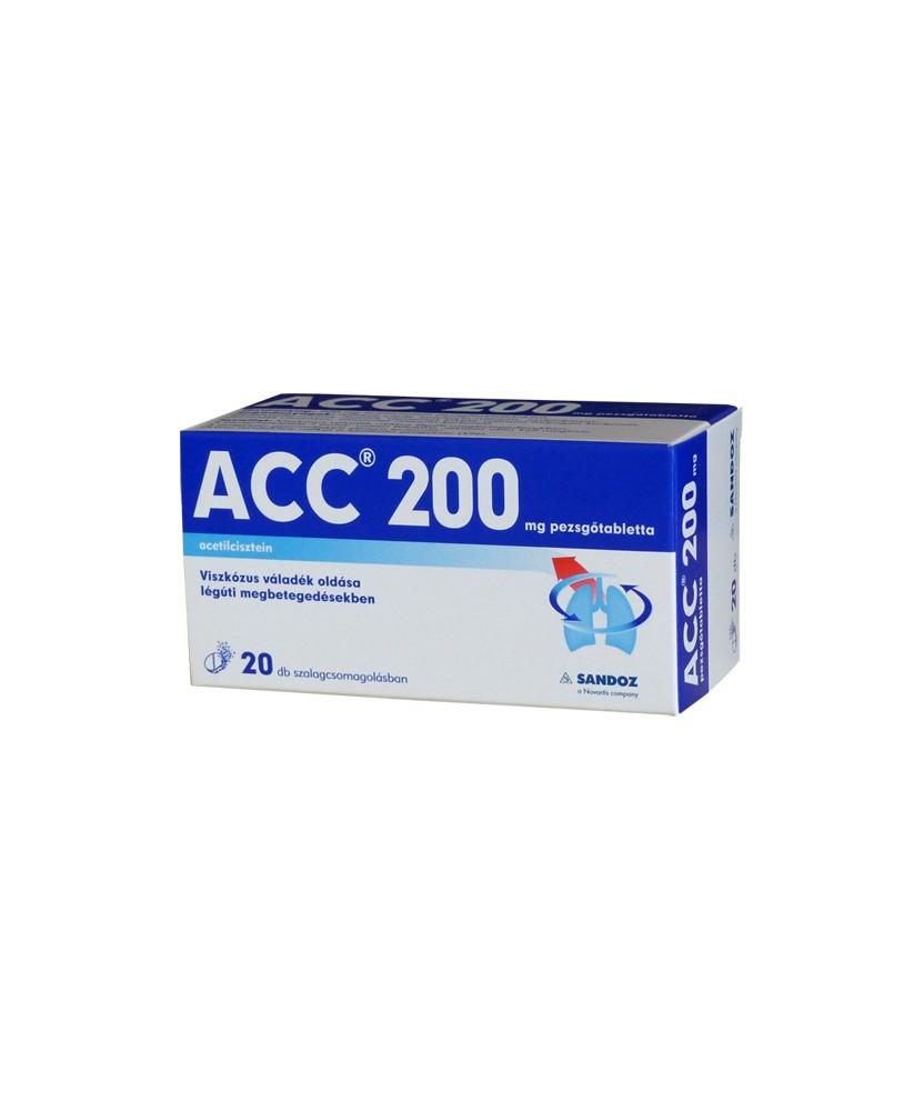 ACC 200 PEZSGOTABL. 20X Sandoz Köptetők és köhögéscsillapítók 1,395.55 Dió patika online gyógyszertár internetes gyógyszerren...