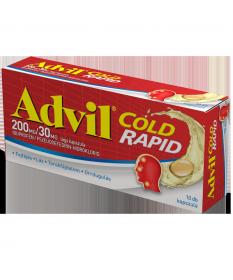 ADVIL COLD RAPID 200MG/30MG LAGY KAPSZ. 10X  Tabletták náthára 1,099.00 Dió patika online gyógyszertár internetes gyógyszerre...