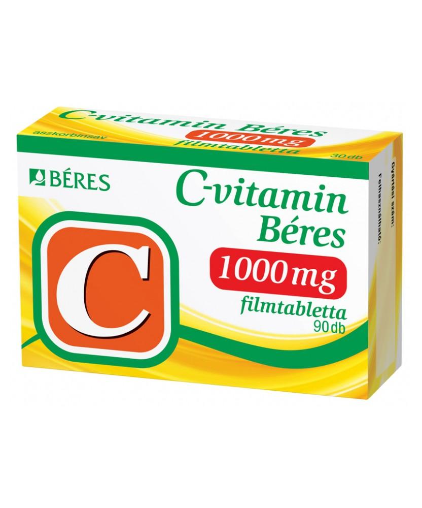 C-VITAMIN BERES 1000MG FILMTABL. 90X Béres Vitaminok és Nyomelemek  2,269.00 Dió patika online gyógyszertár internetes gyógys...