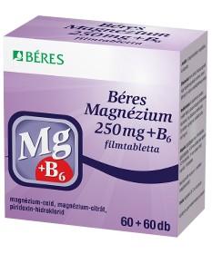 BERES MAGNEZIUM 250 MG+B6 FILMTABL. 120X Béres Vitaminok és Nyomelemek  2,399.00 Dió patika online gyógyszertár internetes gy...