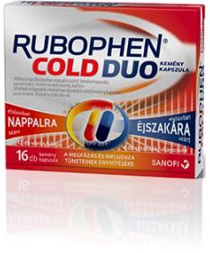 RUBOPHEN COLD DUO KEMENY KAPSZ. 2X(6+2) Sanofi Tabletták náthára 1,148.55 Dió patika online gyógyszertár internetes gyógyszer...