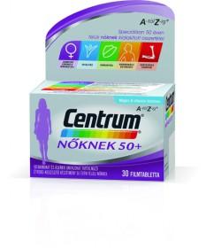 CENTRUM NOKNEK 50+ A-Z FILMTABLETTA 30X Pfizer Vitaminok és Nyomelemek  2,689.00 Dió patika online gyógyszertár internetes gy...