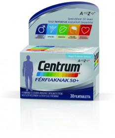 CENTRUM FERFIAKNAK 50+ A-Z FILMTABLETTA 30X Pfizer Vitaminok és Nyomelemek  2,689.00 Dió patika online gyógyszertár internete...