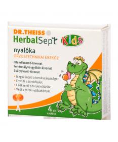 DR THEISS HERBALSEPT KIDS NYALOKA 4X Dr. Theiss  Köptetők és köhögéscsillapítók 839Ft Dió patika online gyógyszertár interne...