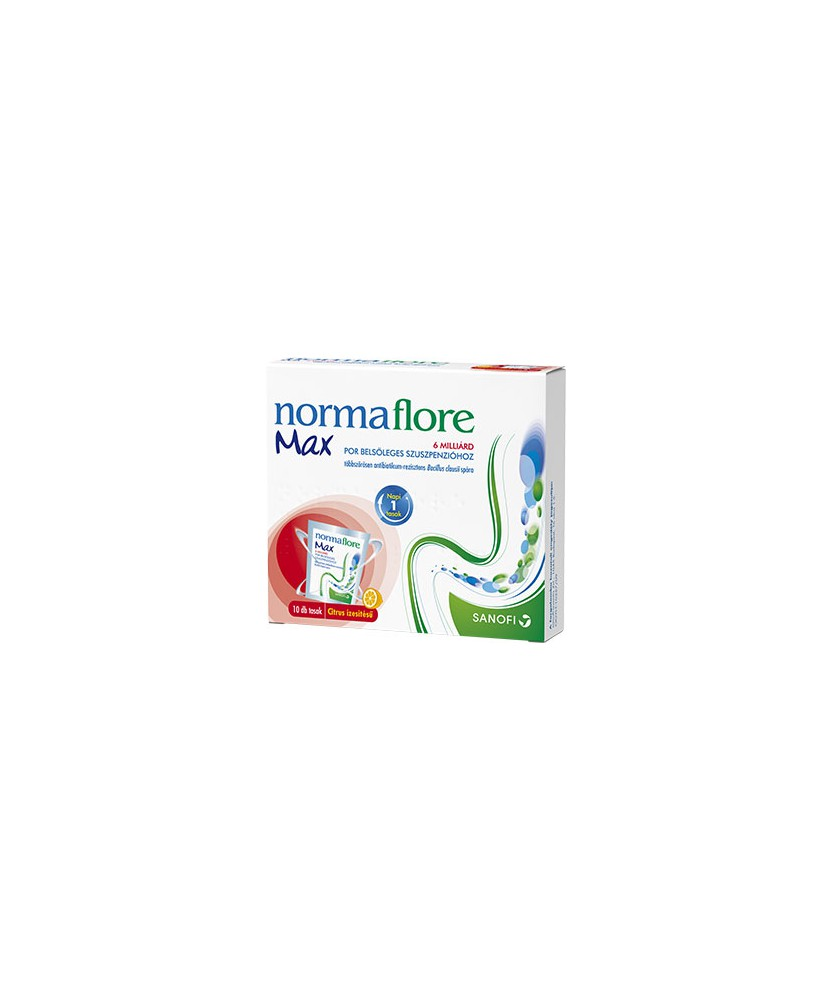 NORMAFLORE MAX 6 MILLIARD POR BELS.SUSP. 10X Sanofi Probiotikumok 3,067.55 Dió patika online gyógyszertár internetes gyógysze...