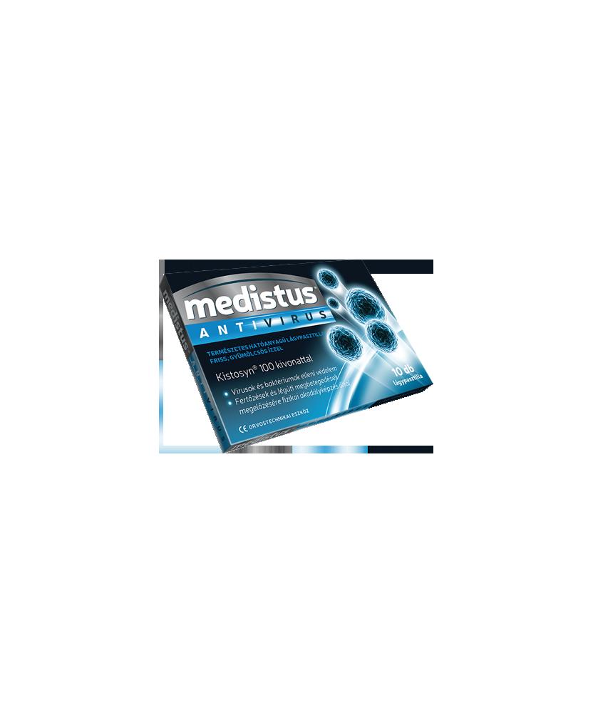 VITAPLUS MEDISTUS ANTIVIRUS PASZTILLA 10X  Tabletták náthára 1,228.99 Dió patika online gyógyszertár internetes gyógyszerrend...
