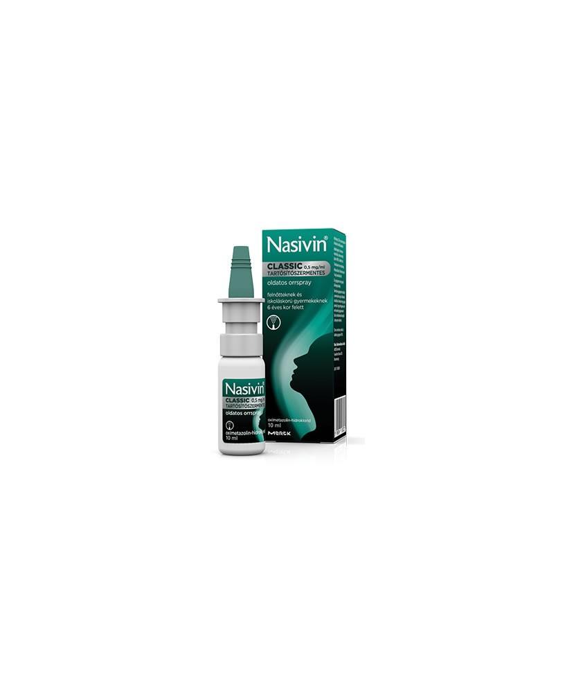 NASIVIN CLASSIC 0,5MG/ML ORRSPRAY/TART.MENT.1X10  Orrcseppek 1,629.00 Dió patika online gyógyszertár internetes gyógyszerrend...