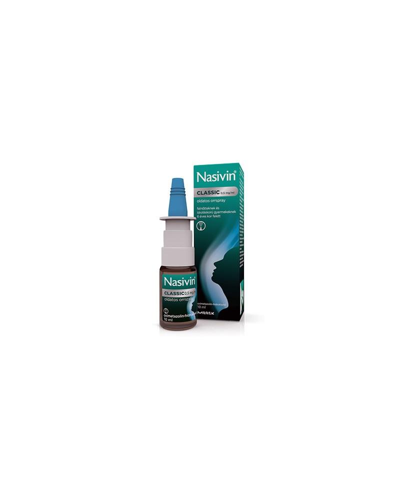 NASIVIN CLASSIC 0,5MG/ML ORRSPRAY 1X10ML  Orrcseppek 1,799.00 Dió patika online gyógyszertár internetes gyógyszerrendelés Bud...