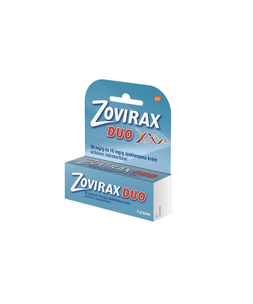 ZOVIRAX DUO 50MG/G+10MG/G AJAKHERPESZ KREM 1X2G GlaxoSmithKline Fertőzések 1,925.10 Dió patika online gyógyszertár internetes...