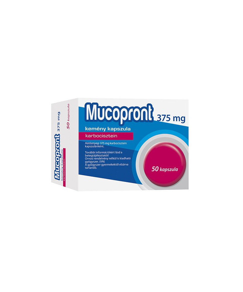 MUCOPRONT 375MG KEMENY KAPSZ. 50X  Köptetők és köhögéscsillapítók 2,374.05 Dió patika online gyógyszertár internetes gyógysze...