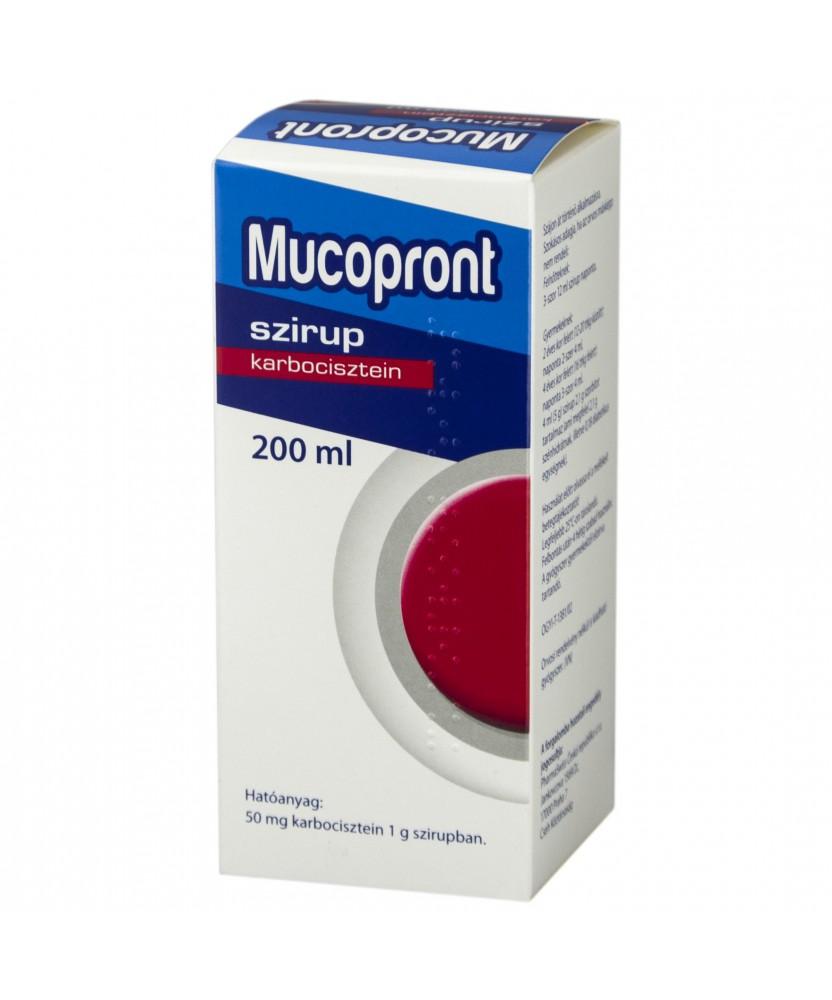 MUCOPRONT 50MG/G SZIRUP 200ML  Köptetők és köhögéscsillapítók 1,899.05 Dió patika online gyógyszertár internetes gyógyszerren...