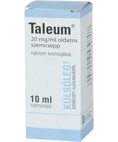 TALEUM 20MG/ML OLDATOS SZEMCSEPP 1X10 ML  Allergia szemcseppek 1,699.00 Dió patika online gyógyszertár internetes gyógyszerre...