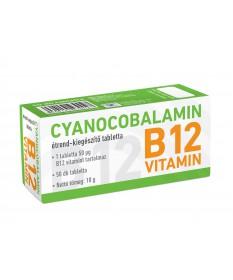 CYANO CYANOCOBALAMIN-B12 VIT.TABL. 50X ERGO  Vitaminok és Nyomelemek  1,927.55 Dió patika online gyógyszertár internetes gyóg...
