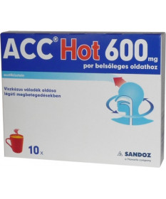 ACC HOT 600MG POR BELS.OLDAT 10X Sandoz Köptetők és köhögéscsillapítók 2,250.55 Dió patika online gyógyszertár internetes gyó...