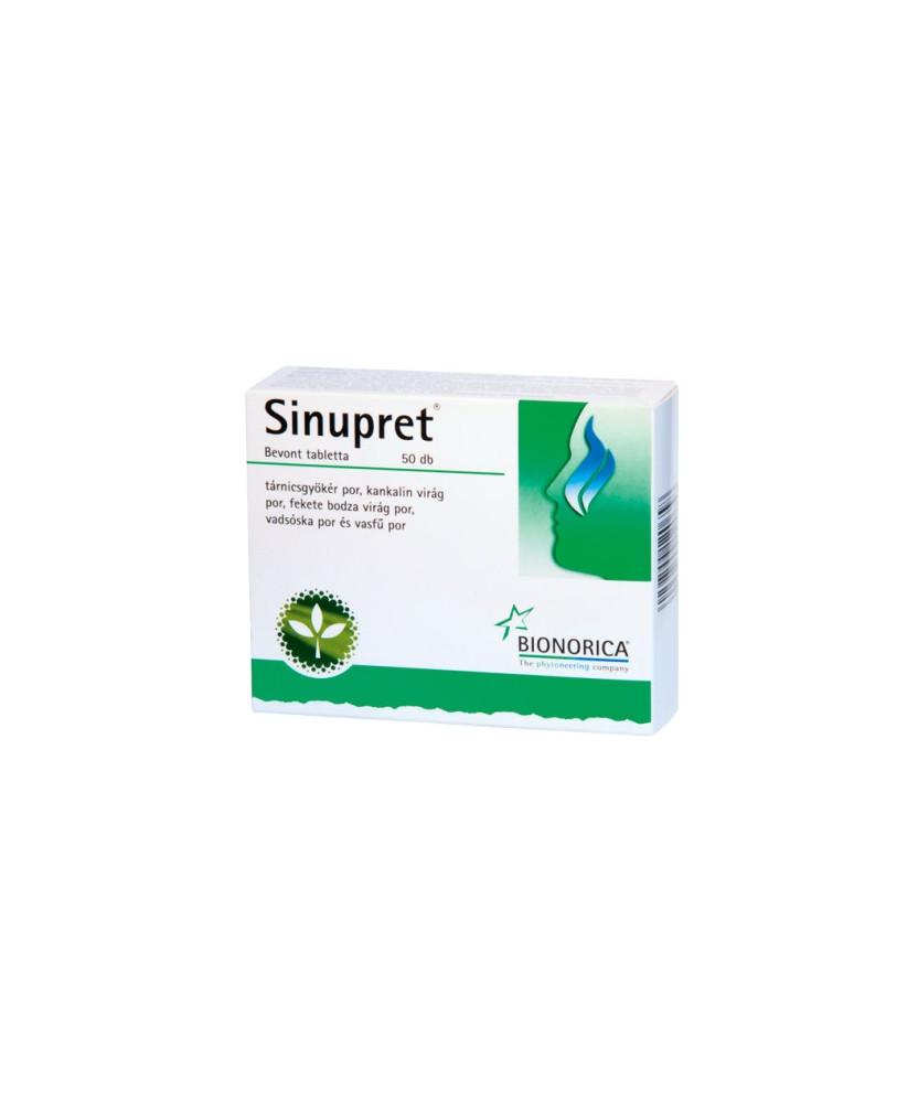 SINUPRET BEVONT TABLETTA 50X  Köptetők és köhögéscsillapítók 2,446.28 Dió patika online gyógyszertár internetes gyógyszerrend...