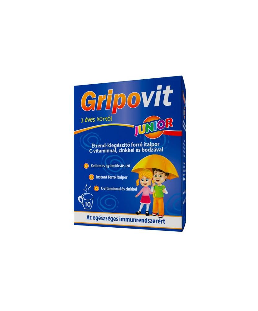 GRIPOVIT JUNIOR C-VIT.+ZN+BODZA HOTDRINK 10X  Vitaminok és Nyomelemek  1,830.80 Dió patika online gyógyszertár internetes gyó...