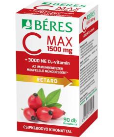 BERES C MAX 1500MG+CSIPKE+D3 3000NE RET.TBL. 90X Béres Vitaminok és Nyomelemek  3,599.00 Dió patika online gyógyszertár inter...