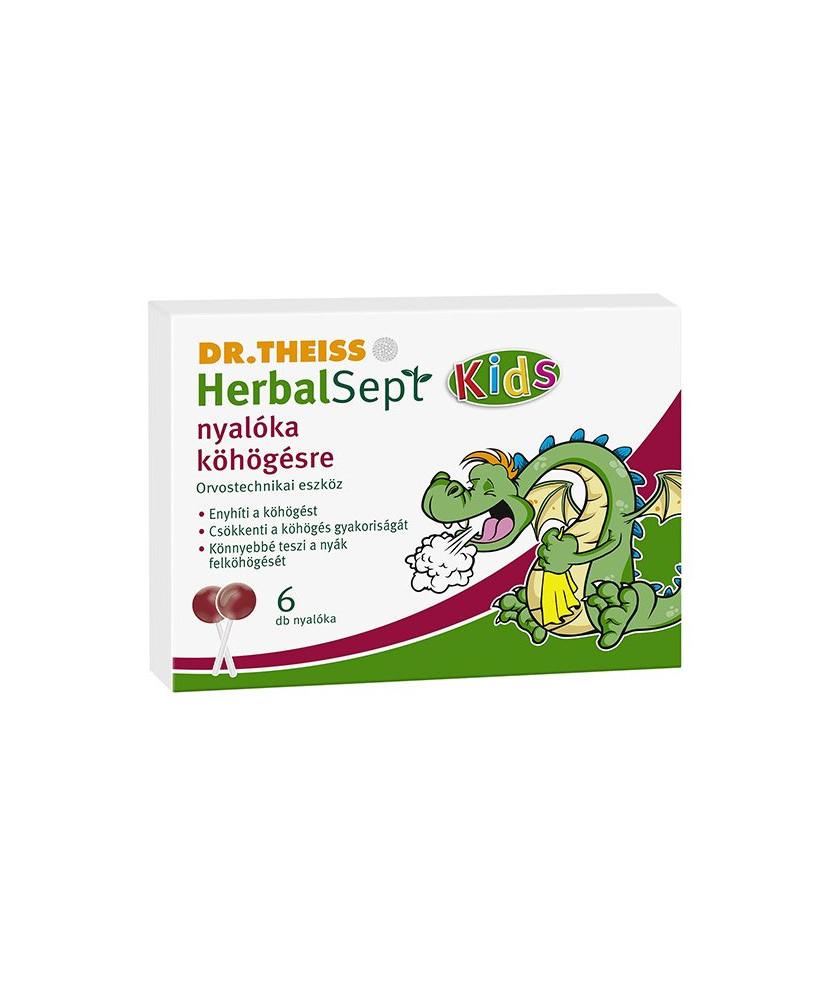 DR THEISS HERBALSEPT KIDS NYALOKA 6X Dr. Theiss  Köptetők és köhögéscsillapítók 1,049.00 Dió patika online gyógyszertár inter...