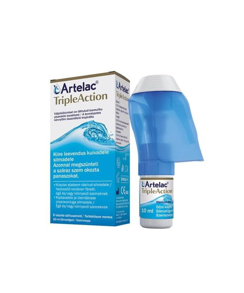 ARTELAC TRIPLE ACTION SZEMCSEPP 10ML  Termékkategóriák 2,759.00 Dió patika online gyógyszertár internetes gyógyszerrendelés B...