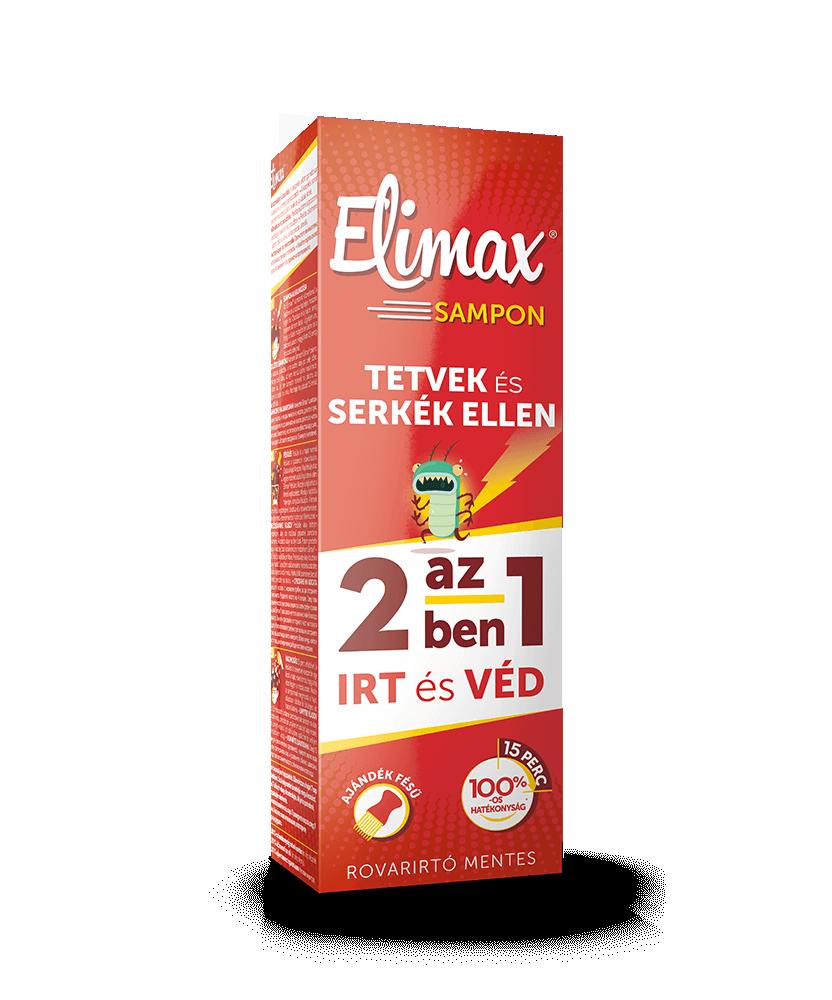 ELIMAX SAMPON TETU IRTO/RIASZTO 100ML+FESU  Tetű, rüh és kullancs elleni készítmények 3,457.37 Dió patika online gyógyszertár...