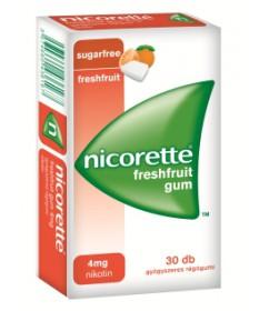 NICORETTE FRESHFRUIT GUM 4MG GYOGYSZ.RAGO. 30X  Dohányzásról való leszokást segítő termékek 2,022.55 Dió patika online gyógys...