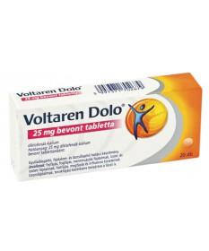 VOLTAREN DOLO 25MG BEVONT TABLETTA 20X GlaxoSmithKline Tabletták 1,629.00 Dió patika online gyógyszertár internetes gyógyszer...