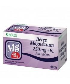 BERES MAGNEZIUM 250 MG+B6 FILMTABL. 90X Béres Vitaminok és Nyomelemek  2,497.55 Dió patika online gyógyszertár internetes gyó...