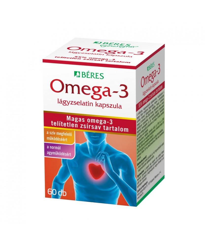 BERES OMEGA 3 LAGYZSELATIN KAPSZ. 60X Béres Szív és Érrendszer 2,849.05 Dió patika online gyógyszertár internetes gyógyszerre...