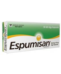 ESPUMISAN GYONGY 40 MG LAGY KAPSZULA 50X  Puffadás ellen 1,747.05 Dió patika online gyógyszertár internetes gyógyszerrendelés...