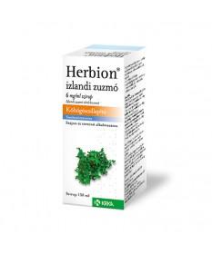HERBION IZLANDI ZUZMO 6MG/ML SZIRUP 1X150ML Krka Köptetők és köhögéscsillapítók 1,481.05 Dió patika online gyógyszertár inter...